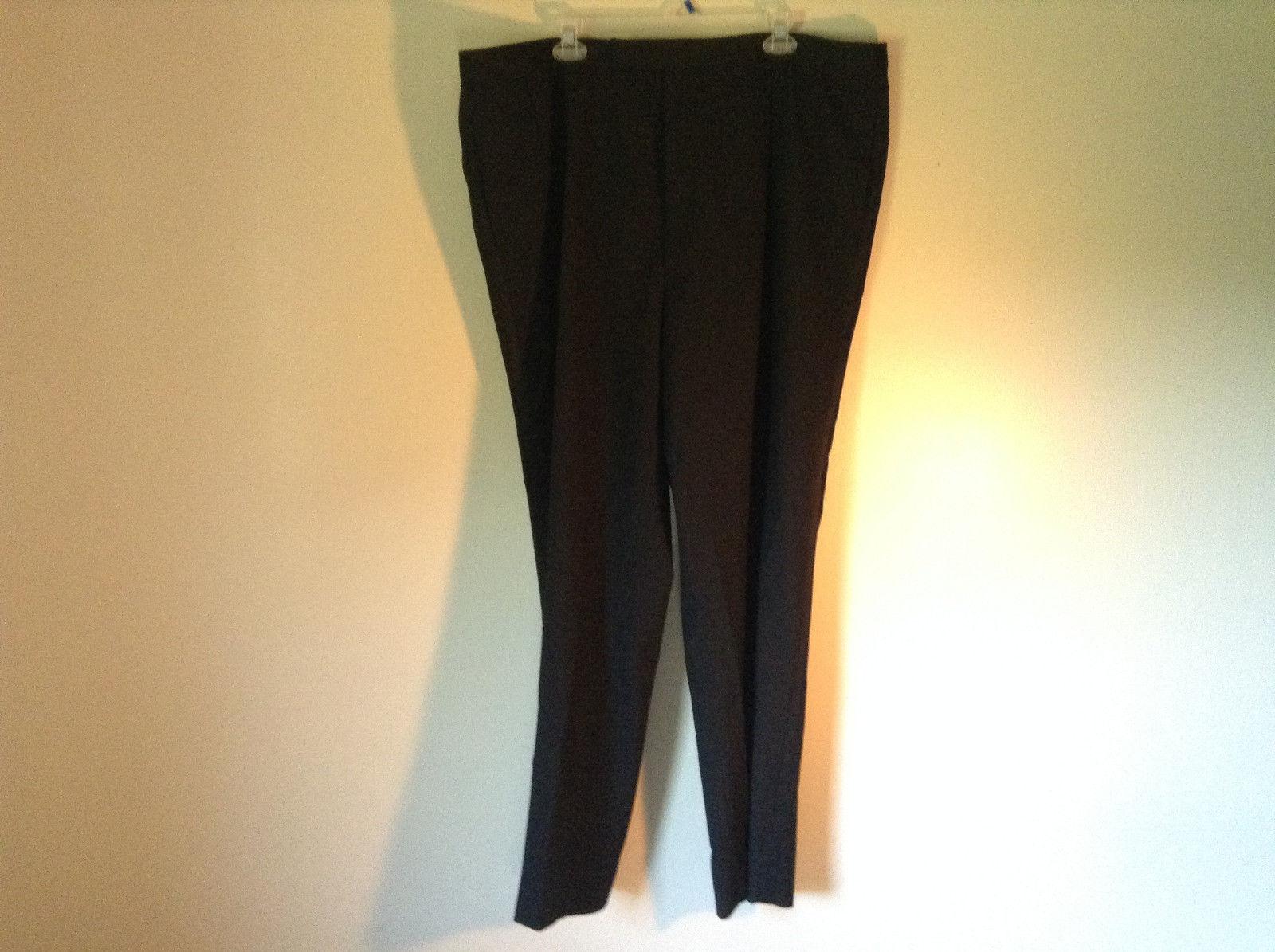 Black Pleated Dress Pants NO TAGS See Measurements Below
