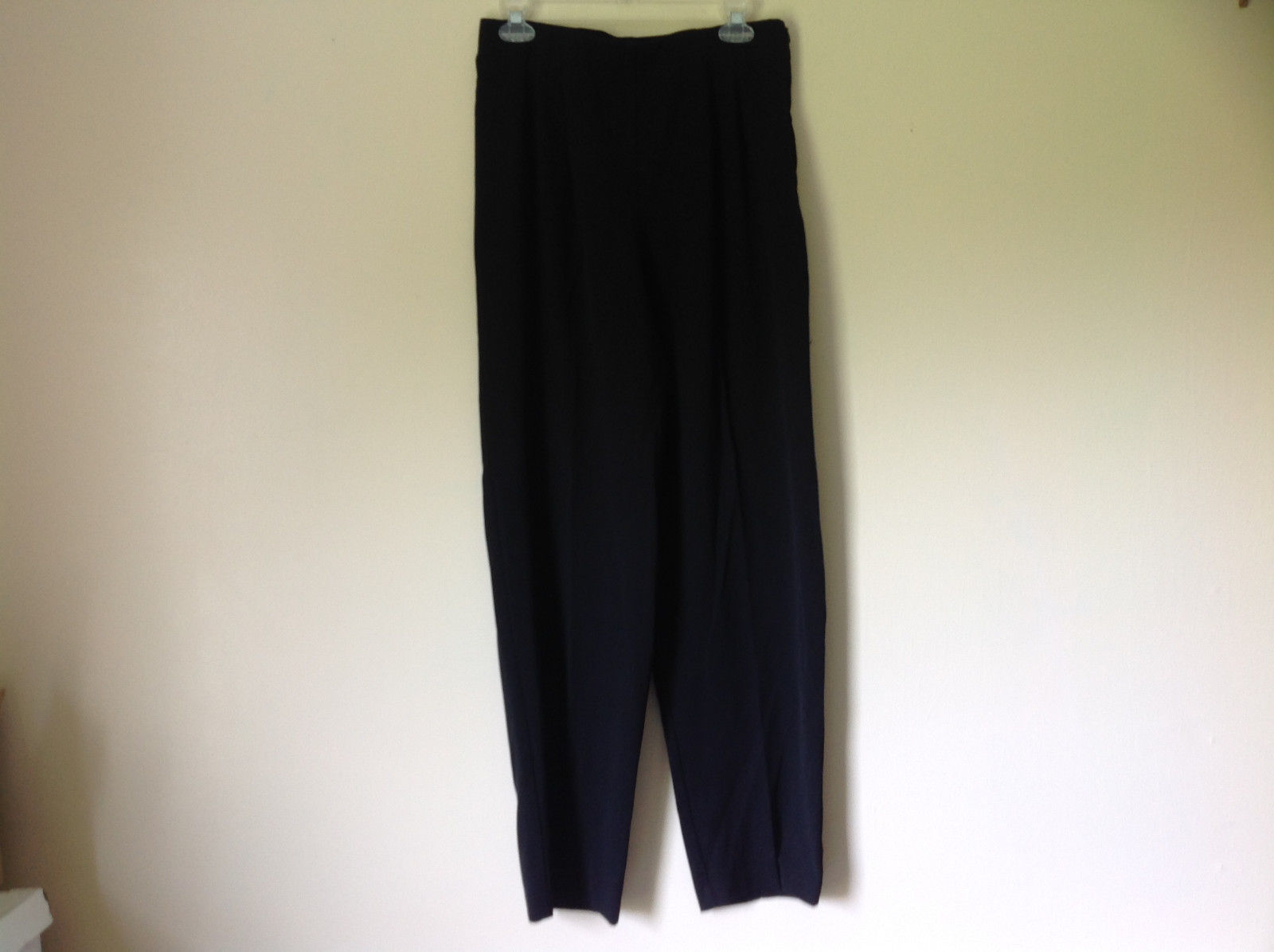 Black Pleated Elastic Waist Work Casual Pants by Jennifer Moore Size 10