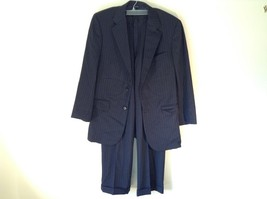 Black Pinstriped Two Piece Suit Brooks Brothers Excellent Condition Made in USA