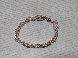 Barrel Chain Design Sterling Silver Lobster Clasp Bracelet image 2