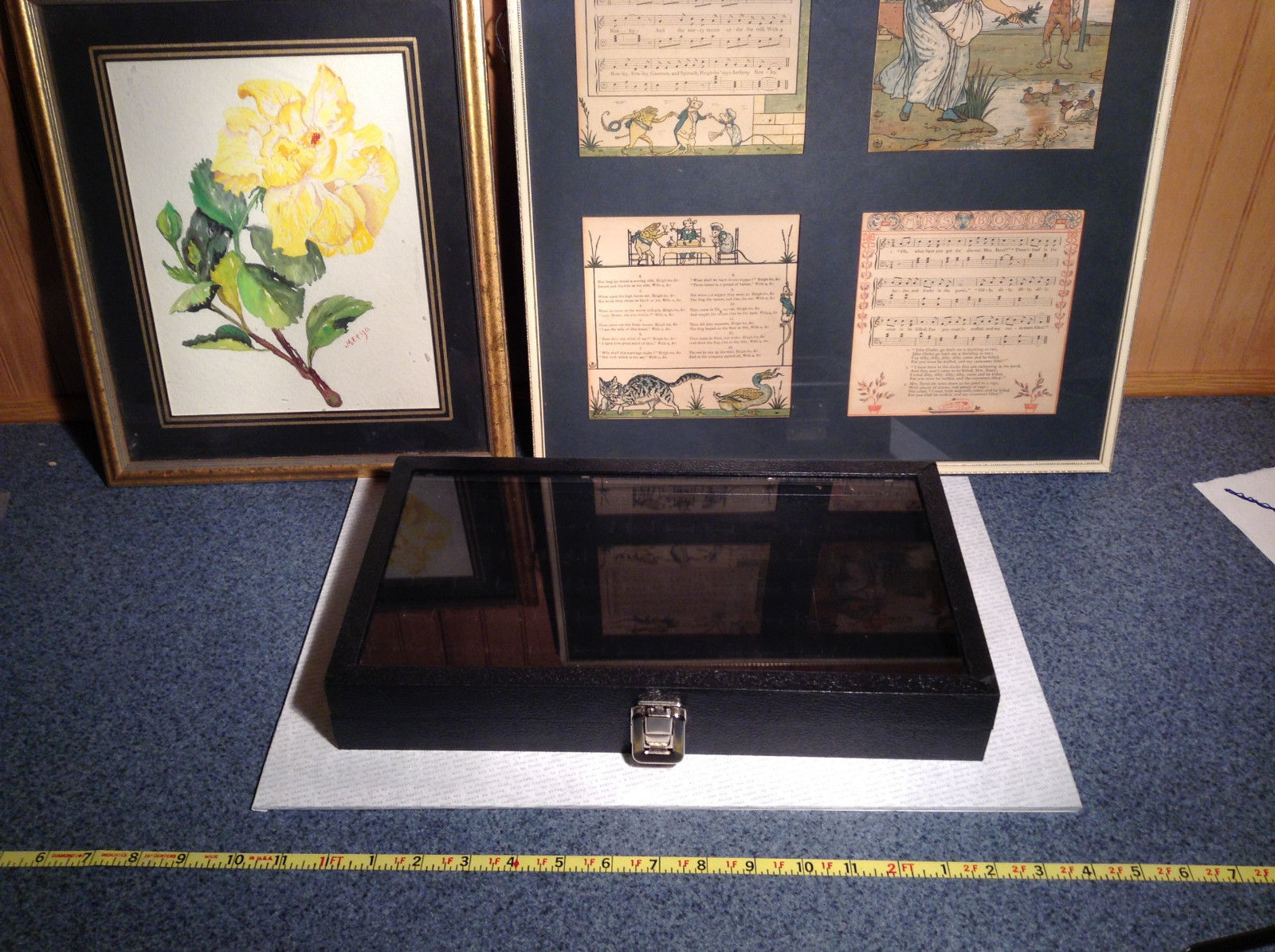 Black Ring Display Case with Foam Padding and Silver Latch for Closing