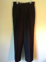 Black Size 10 Giorgio Sant Angelo Pleated Dress Pants with Black Belt image 1