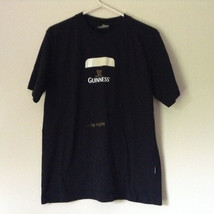 Black Short Sleeve Guinness T-Shirt Logo on Front Size Medium