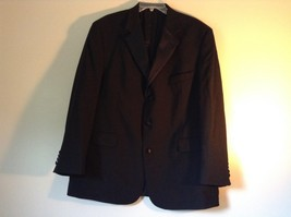 Black Stafford Woolmark 100 Percent Pure Wool Suit Jacket Measurements Below