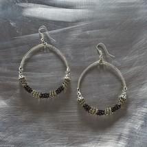 Black Smoke Hoop Wire earrings