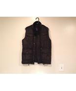 Black Size S Petite Express Warm Vest Zipper Closure Four Front Pockets - $49.49