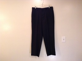 Black Structure Pleated Front Dress Pants Side Pockets Size 34 by 30