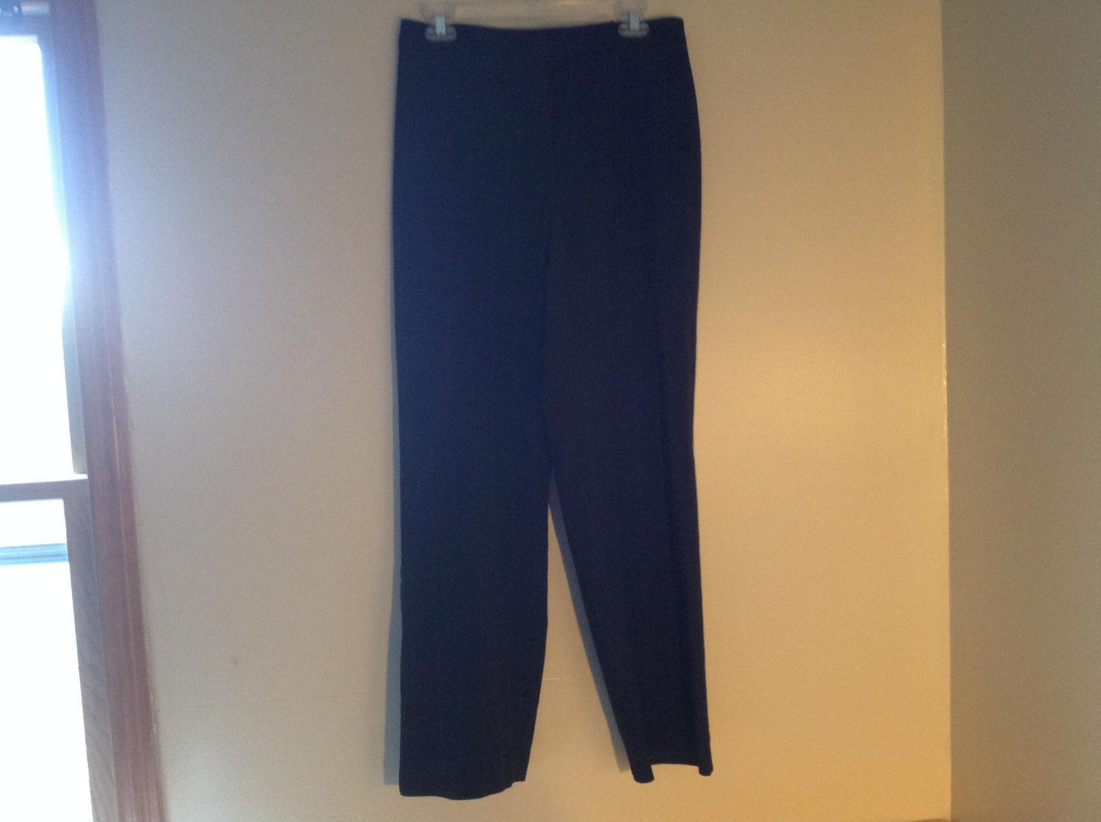 Black Small Plaid Box Pattern Casual Wide Leg Pants Worthington Size 12