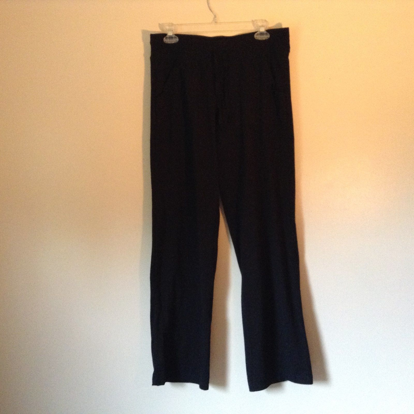 Black Sweat Pants with Pockets Danskin Now Stretchy Size Medium 8 to 10