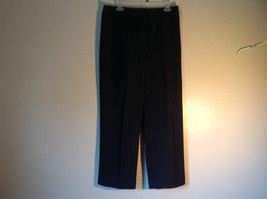Black Talbots Stretch Pants Size 10 Zipper and Button Closure One Back Pocket