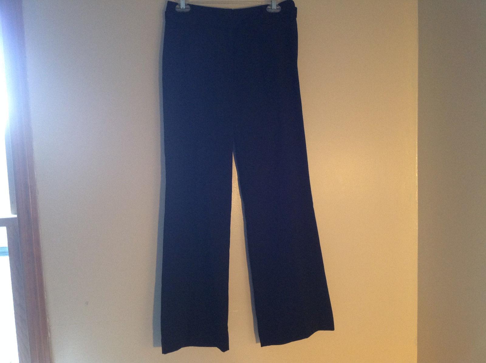 Black Tie Belt Casual Pants Zipper Button 2 Clasp Closure Geoffrey Been Size 4S