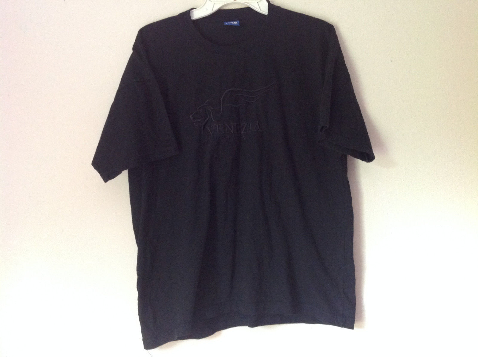 Black Venezia Italia T Shirt 100 Percent Cotton Made in Italy Soft NO TAG