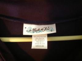 Belle Du Jour dark purple short sleeve dress empire waist size medium image 5