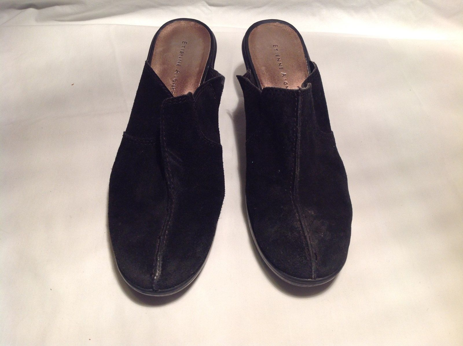 Black Wedge Suede Etienne Aigner Shoes Size 9