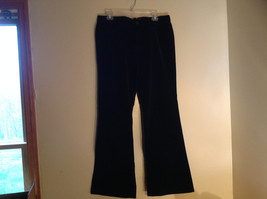 Black Velvet Low Rise Boot Cut GAP Pants 4 Pockets Zip Button Closure Size 10 R