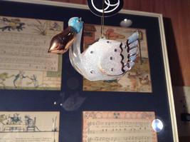 Beautiful Glass Pelican Ornament Clear Light Blue White Gold Tone Beak image 4
