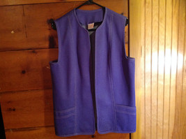 2 PC Blue Violet Open Vest Skirt Set Graff Californiawear Vest SZ  L Skirt SZ M image 2