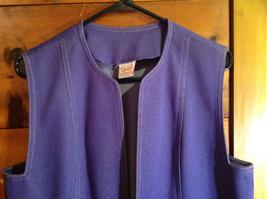 2 PC Blue Violet Open Vest Skirt Set Graff Californiawear Vest SZ  L Skirt SZ M image 4