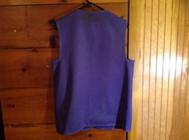 2 PC Blue Violet Open Vest Skirt Set Graff Californiawear Vest SZ  L Skirt SZ M image 6
