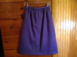 2 PC Blue Violet Open Vest Skirt Set Graff Californiawear Vest SZ  L Skirt SZ M image 7