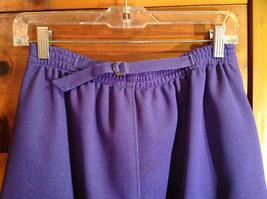 2 PC Blue Violet Open Vest Skirt Set Graff Californiawear Vest SZ  L Skirt SZ M image 8