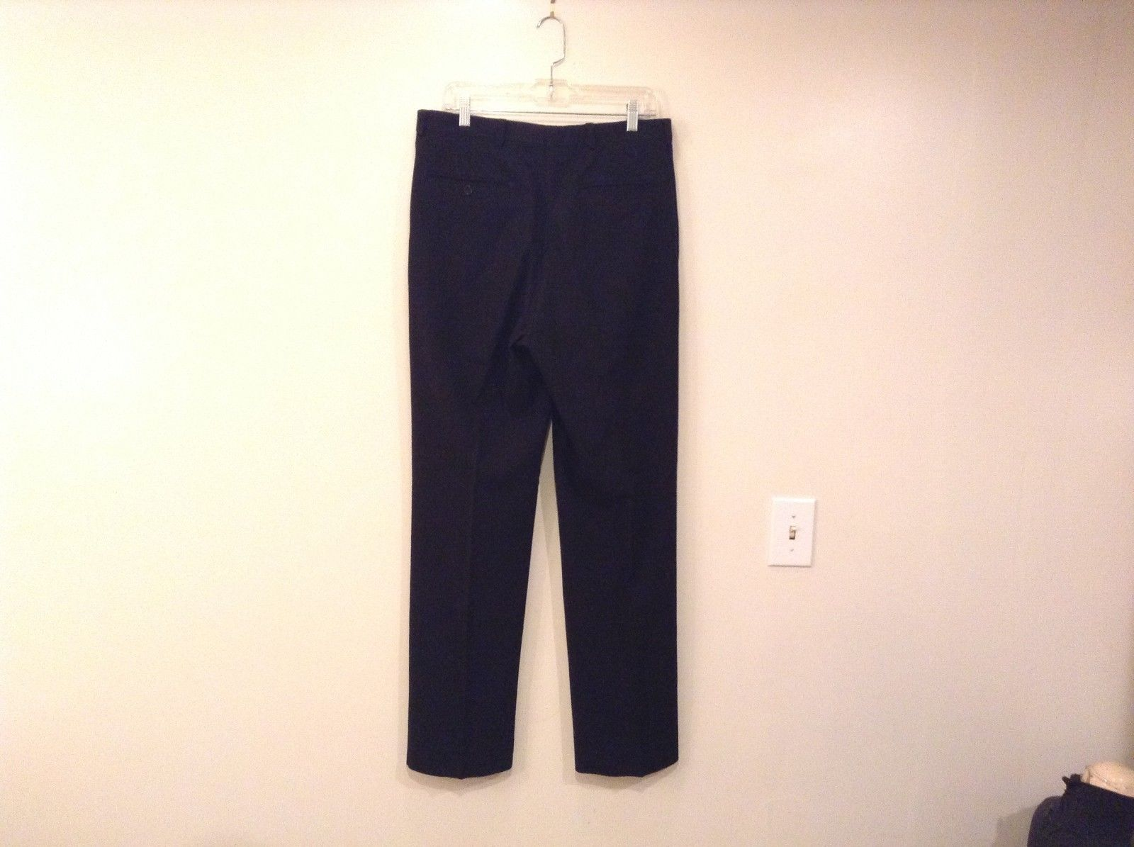 Black Wool Giorgio Armani Le Collection Black Dress Pants Size 34 Made in Italy