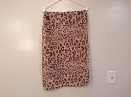 Beige Brown Leopard Print Scarf 100 Percent Polyester NEW WITHOUT TAG image 3