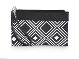 Black and White Geo Pattern Wristlet wallet