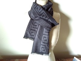 Black and Gray Pattern European Scarf by Mad About Style 100 Percent Viscose