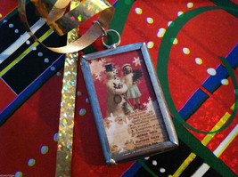 2 sided Walking in a winter wonderland Christmas charm with metal frame image 2