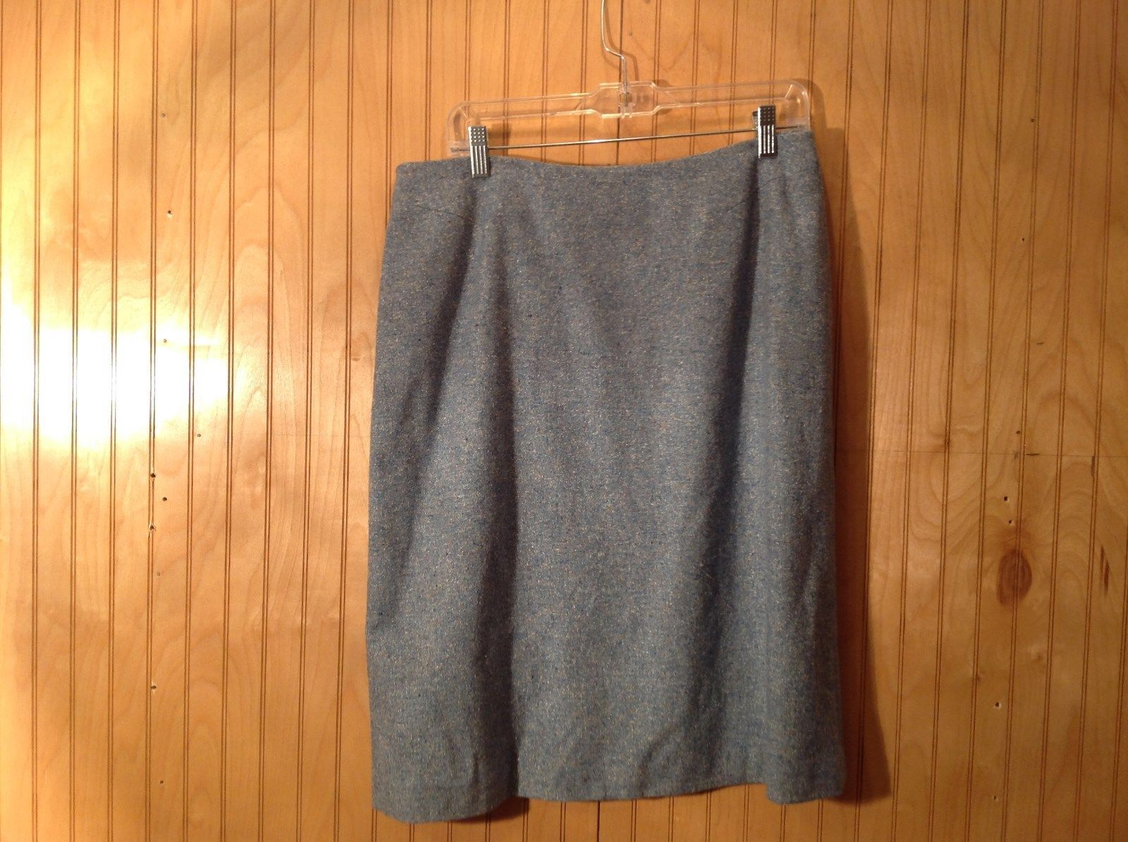 Blue Brooks Brothers Size 12 Fully Lined Skirt Side Zipper