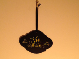 Black sign with lettering Vin deMaison and other writing vintage shape - $39.99