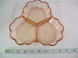 2 Peach Pink colored glass candy or side serving dishes depression ware image 8