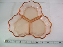 2 Peach Pink colored glass candy or side serving dishes depression ware image 7