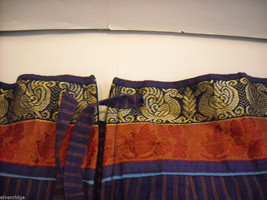 2 Piece Red, Purple and Blue Gopi Skirt Set image 4