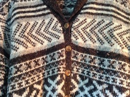 Best Authentic True Mark Innovative Brown Graphic Long Sleeve Sweater Size L image 2