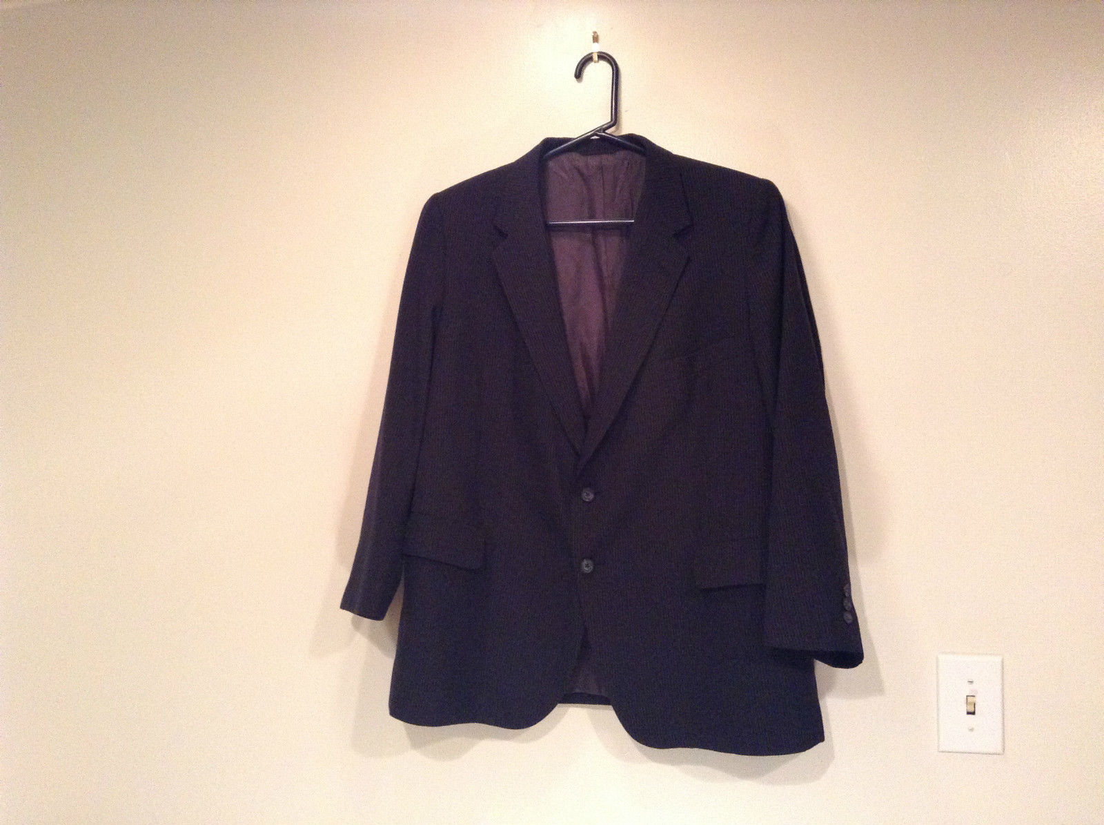 Black with Light Stripes Steffano Barneys New York Suit Jacket Blazer No Tag