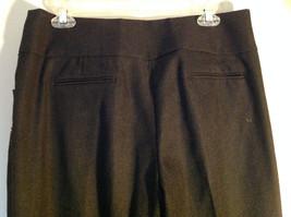 Black Checker Fabric Pattern Casual Pants 4 Pockets Antonio Melani Size 8 image 5