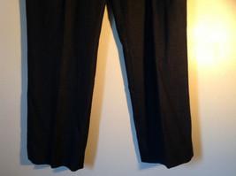 Black Checker Fabric Pattern Casual Pants 4 Pockets Antonio Melani Size 8 image 4