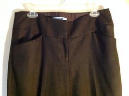 Black Checker Fabric Pattern Casual Pants 4 Pockets Antonio Melani Size 8 image 2