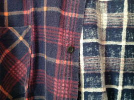 Big Yank Size XL Plaid Flannel Button Up Collared Shirt Two Pockets Long Sleeves image 2