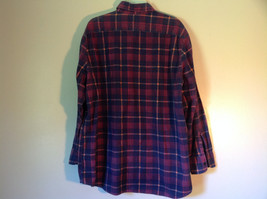 Big Yank Size XL Plaid Flannel Button Up Collared Shirt Two Pockets Long Sleeves image 5