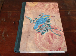 Blank Paged Handcrafted Asian Look  Journal with Blue Bird on Cover