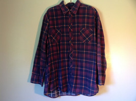 Big Yank Size XL Plaid Flannel Button Up Collared Shirt Two Pockets Long Sleeves image 4