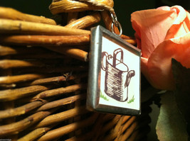 """2 Sided Charm - """"Grow"""" w/ picture of Watering Can image 4"""