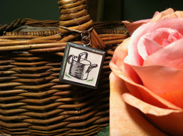 """2 Sided Charm - """"Grow"""" w/ picture of Watering Can image 3"""