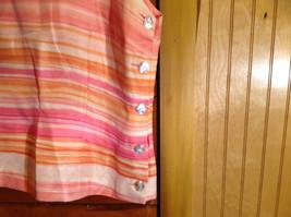2 Piece Pink Orange Sleeveless Shirt and Pant Set David Warren New York Size 12 image 3