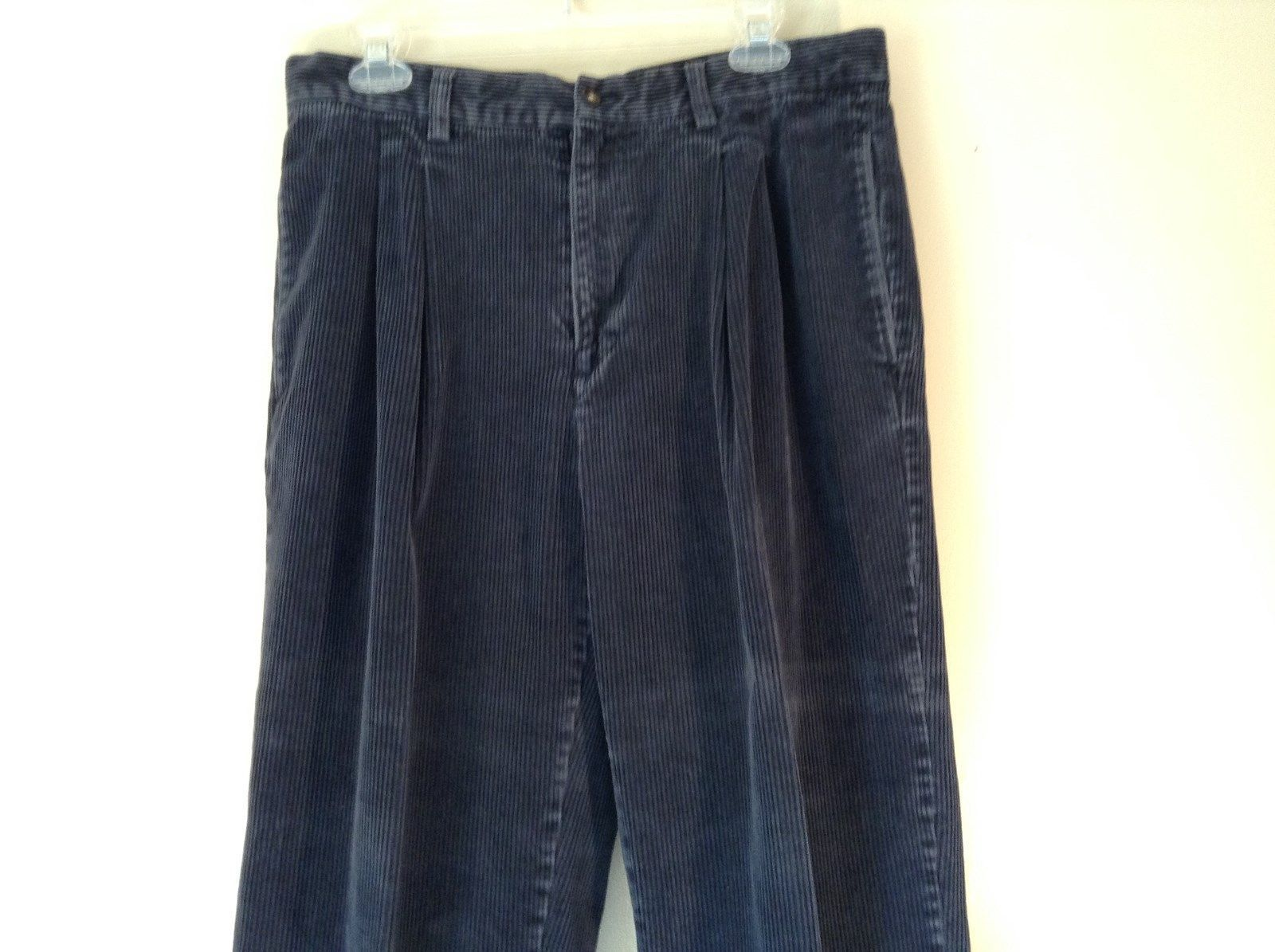 Blue Corduroy GAP Easy Fit Pants Size 34 by 30 Great Condition