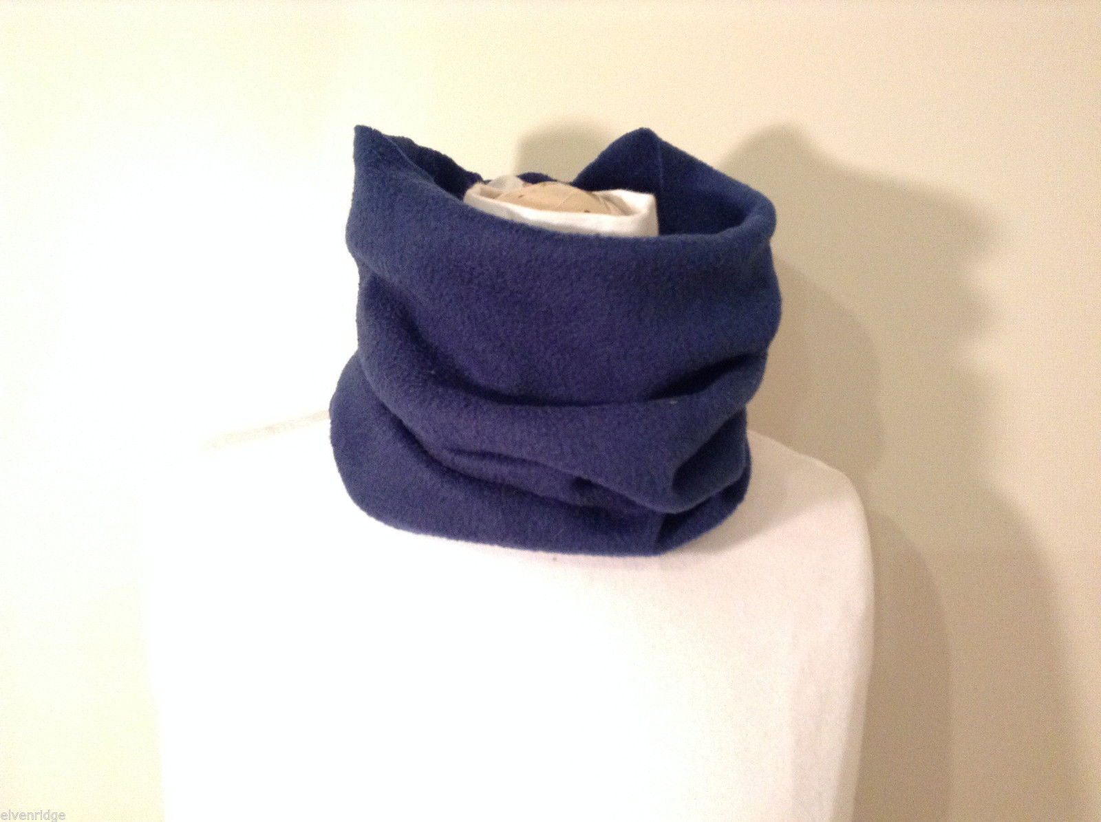 Blue Fleece Pullover Scarf 100% polyester