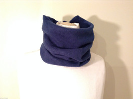 Blue Fleece Pullover Scarf 100% polyester image 1
